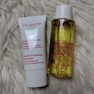 Clarins gentle foaming cleanser and lotion tonique